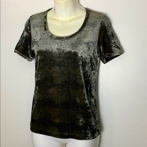 Armani velour animal print top size 8